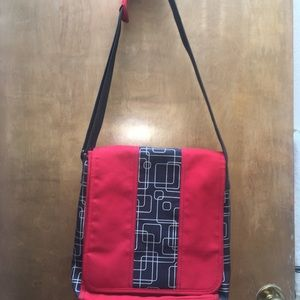 Other - Red and Gray Unisex Messenger Travel Bag